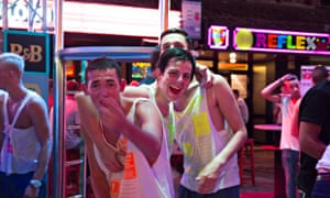 Young British tourists in Magaluf