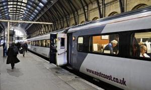 East Coast line train ready to depart Kings Cross