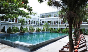 The pool at The Plantation hotel, Phnom Penh, Cambodia