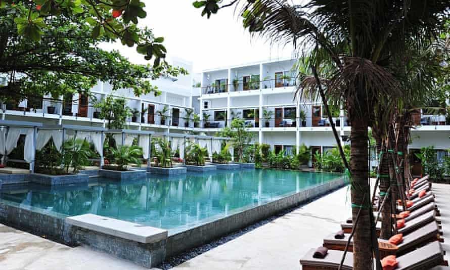 The pool at The Plantation hotel, Phnom Penh, Cambodia