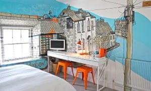 The Jo Peel room at Artist Residence Penzance, Cornwall