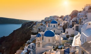 Oia at Sunset, Santorini, Cyclades, Greece