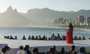 Bebel Gilberto performs at Aparador beach, Rio, Brazil