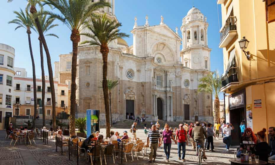 Cadiz, Cadiz Province, Andalusia, southern Spain. The cathedral on Plaza de la Catedral.