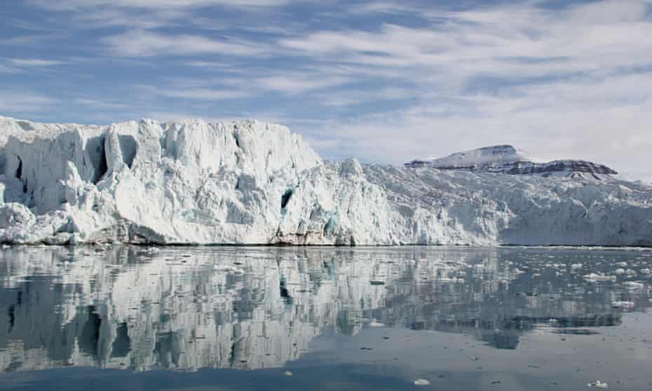 The Nordenskiöld glacier, Svalbard