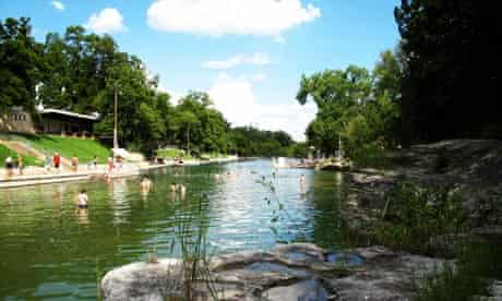Swim at Barton Springs, Austin, Texas