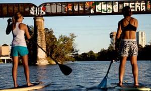 Paddleboarding, Austin, Texas
