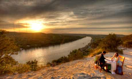See a Sunset at Mount Bonnell, Austin, Texas