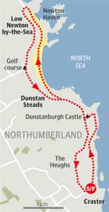 Craster to Low Newton-by-the-Sea, Northumberland walk graphic