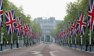 Preparations for the diamond jubilee carriage procession, London