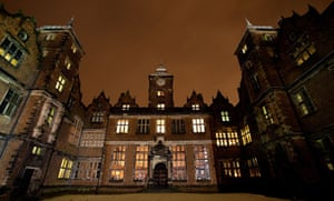 Aston Hall at night, Birmingham