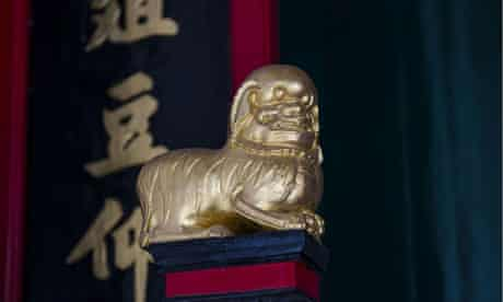 Lion statue in Sam Tung Uk Museum, Hong Kong