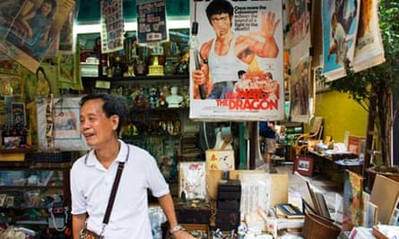 Uncle Szeto on his stall, Hong Kong