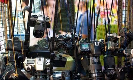 Vintage cameras on Apliu Street, HK
