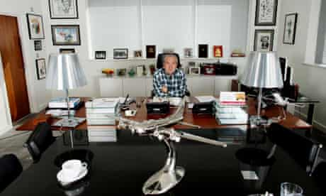 Lord Sugar at t his office in Loughton