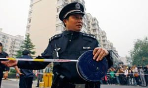 Chinese police ouside home of Liu Xia
