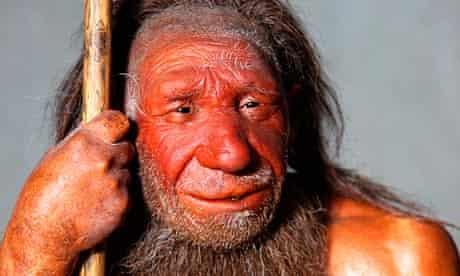 Model of a Neanderthal man, Neanderthal Museum, Mettmann, Germany