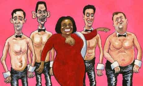 Steve Bell cartoon labour leadership candidates