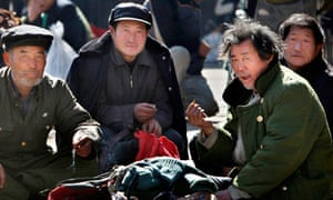 Petitioners wait to air grievances at a government office in Beijing