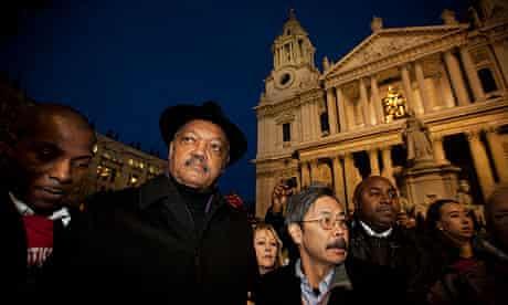jesse jackson occupy london