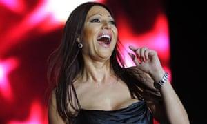 Svetlana Raznjatovic, Ceca, performs in Skopje