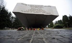 Memorial to victims of plane crash in Smolensk