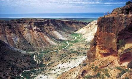 Charles Knife gorge in the Cape Range national park, Ningaloo coast, Australia