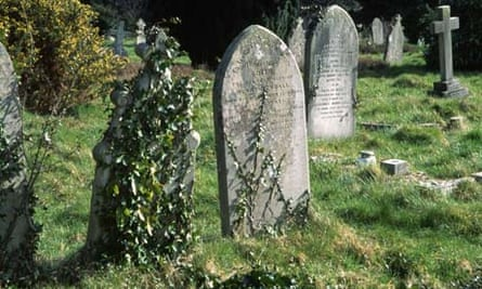 Graves in cemetery in Hampshire