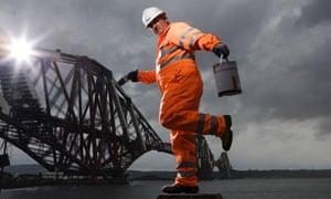 Forth bridge painter Bob Muir