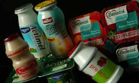 Probiotic drinks and yogurts