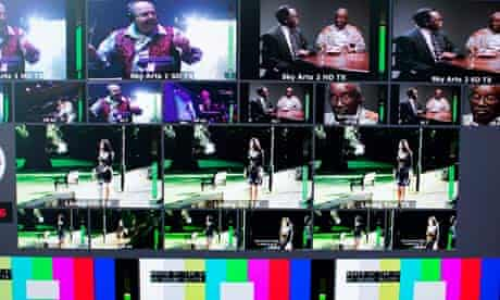 Sky TV production screens