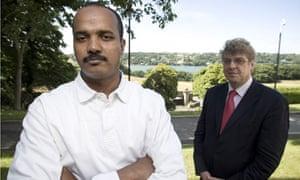Khalid El Sheikh at Bangor University with Philip Molyneux