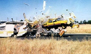 A car crash featured in the film Mad Max