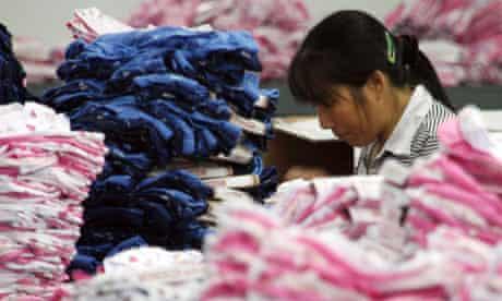 Chinese textiles factory in Jinjiang