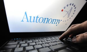 Autonomy logo on laptop computer