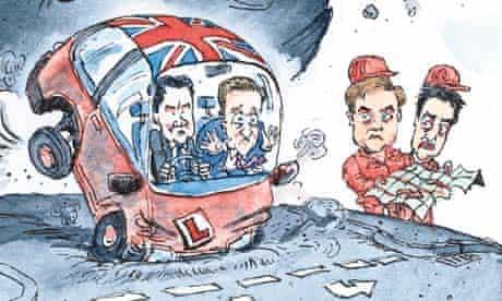 Dave Simonds cartoon on UK economy stalling