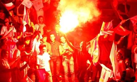 Supporters of Tunisia's Progressive Democratic Party