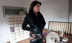 Priory Hall resident Sharon Cunningham in her Dublin flat