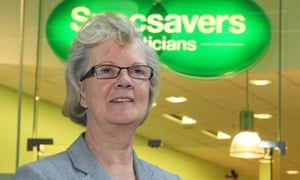 Specsavers co-founder Mary Perkins