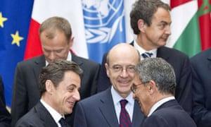 Zapatero at summit meeting