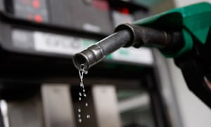 Petrol dripping from a pump