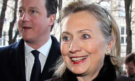 Hillary Clinton,  David Cameron