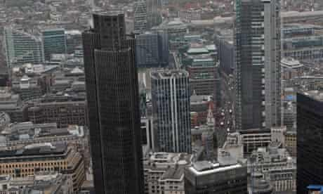 Aerial Views of London's Financial Center