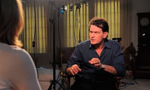 Actor Sheen talks to ABC News's Andrea Canning