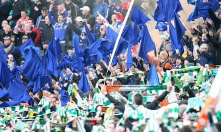 Celtic versus Rangers Celtic Park Feb 2011