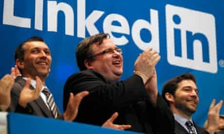 Linkedin flotation Reid Hoffman New York Stock Exchange opening bell