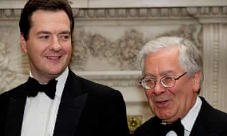 George Osborne and Mervyn King Mansion House