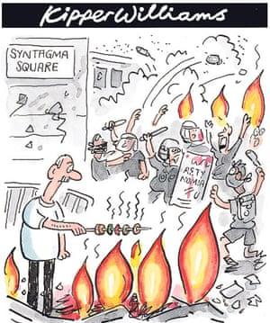 Greek austerity riots kipper williams