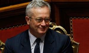 Italian Economy Minister Giulio Tremonti austerity debate