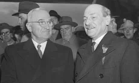Truman Shaking Hands W/Prime Minister